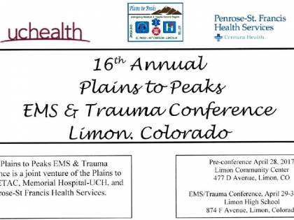 16th Annual Plains to Peaks EMS/Trauma Conference