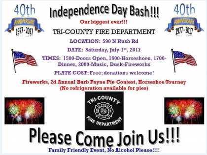 Independence Day Bash! Tri-County Fire Dept.