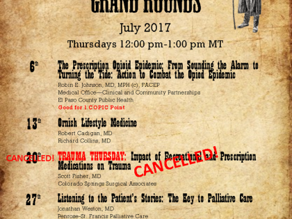 Penrose – St. Francis Grand Rounds – July 2017