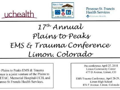 17th Annual Plains to Peaks  EMS/Trauma Conference