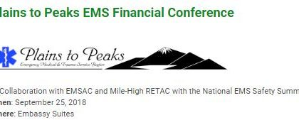 Plains to Peaks EMS Financial Conference – 9/25/2018