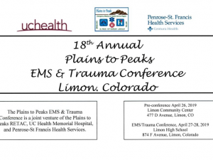 18th Annual Plains to Peaks  EMS/Trauma Conference