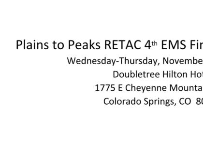 Plains to Peaks RETAC 4th EMS Financial Symposium