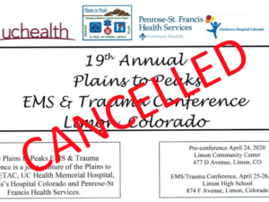 CANCELLED – 2020 Plains to Peaks EMS & Trauma Conference